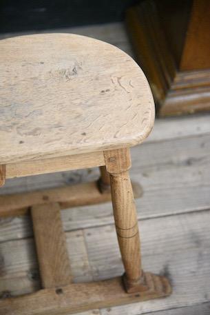 アンティーク 剥離 無垢 木製 スツール フレンチ