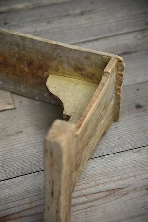 アンティーク 木製 スツール 花台 ステップ フレンチ