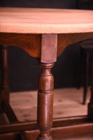 アンティーク ラウンド ダイニングテーブル コンソール フレンチ 木製