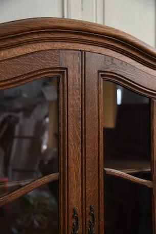 アンティーク フレンチ ガラス キャビネット ディスプレイキャビネット