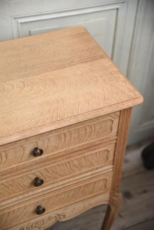 アンティーク 猫脚 3段チェスト サイドテーブル フレンチ 剥離