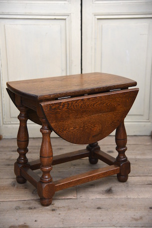 アンティーク ドロップリーフ テーブル サイドテーブル