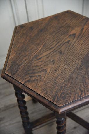 アンティーク 木製 サイドテーブル オクトゴナル フレンチ