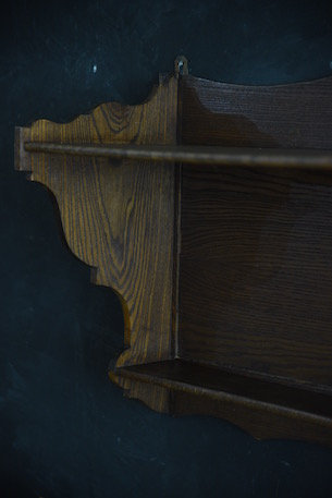 アンティーク 木製 ウォールラック コートラック