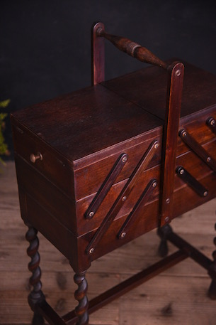 アンティーク ソーイングボックス 裁縫箱 フレンチ