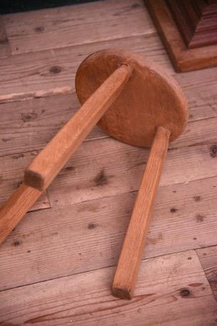 アンティーク 木製 スツール ラウンド フレンチ