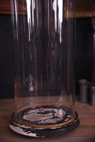 アンティーク ラウンド ガラスドーム フレンチ ブラック
