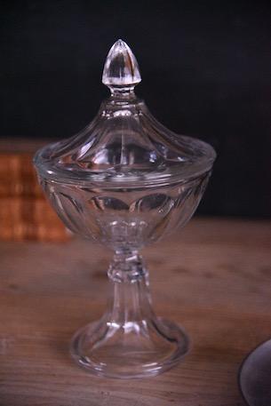アンティーク ガラスポット フレンチ ボンボニエール