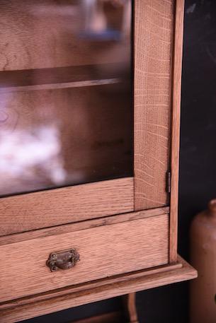 アンティーク 剥離 ウォールキャビネット ガラス ハンギング フレンチ
