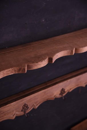 アンティーク ウォール ラック フレンチ 無垢 木製
