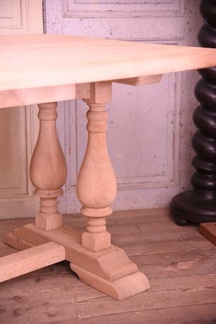アンティーク ダイニングテーブル オーク材 無垢 フレンチ 什器