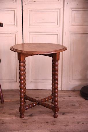 アンティーク ラウンド サイドテーブル フレンチ 花台