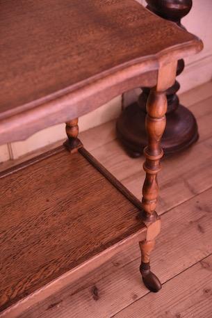 アンティーク ティートローリー カート 木製 フレンチ