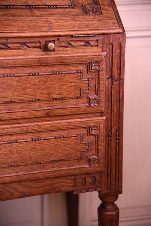 アンティーク 木製 ビューロー フレンチ ルイ16世