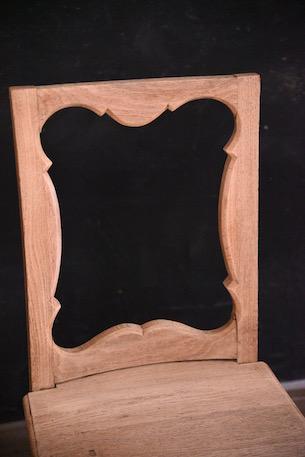 アンティーク チャーチチェア フレンチ 木製 2