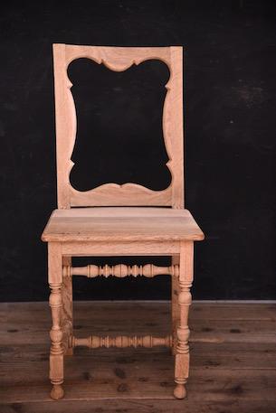 アンティーク チャーチチェア フレンチ 木製 4