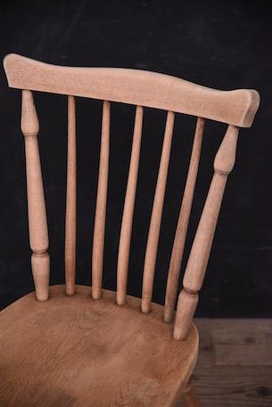 アンティーク ダイニング チェア フレンチ 剥離 木製 椅子 2