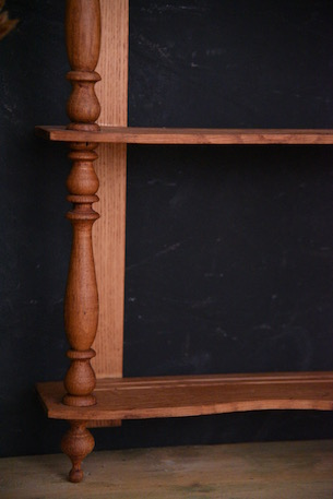アンティーク 木製 ウォールラック フレンチ 4段