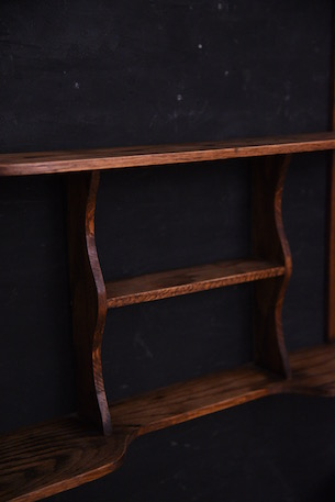 アンティーク 木製 ウォールラック スパイスラック フランス