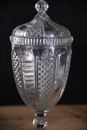 アンティーク ガラスポット フレンチ キャンディージャー 保存瓶 1