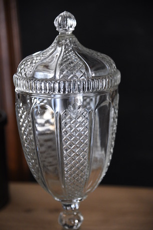 アンティーク ガラスポット フレンチ キャンディージャー 保存瓶 2