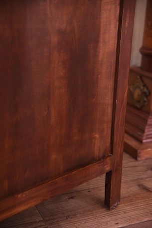 アンティーク ブックケース ショーケース フレンチ 猫脚