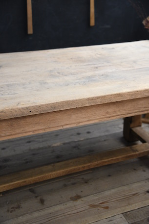 アンティーク ダイニングテーブル 無垢 オーク材 フレンチ