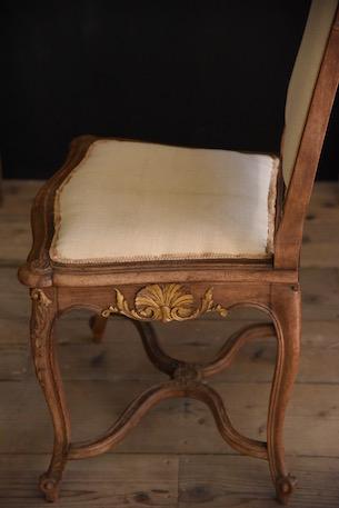 ルイ15世 フレンチ アンティークチェア リネン