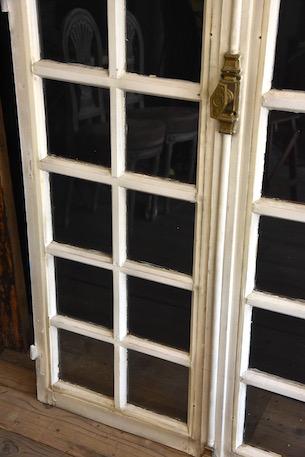 アンティーク フレンチ ガラス格子 ドア グレモン錠