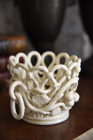 アンティーク  パニエ  フレンチ  白磁器