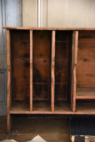 アンティーク 仕分け棚  木製  フランス