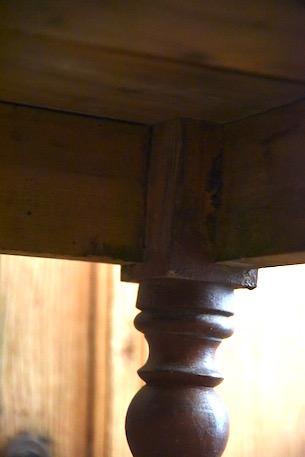 アンティーク  テーブル  ジンクトップテーブル  フランス