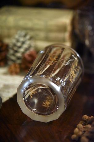 アンティーク  グラス  金彩  フランス