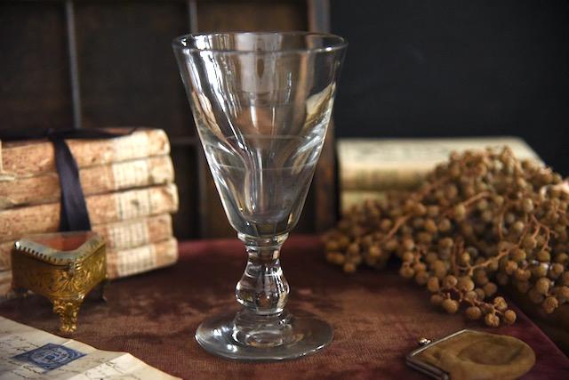アンティーク  ゴブレット  グラス  ビストログラス  フランス