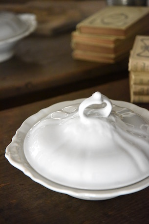 アンティーク  コンポート  マーストリヒト  陶器  フランス