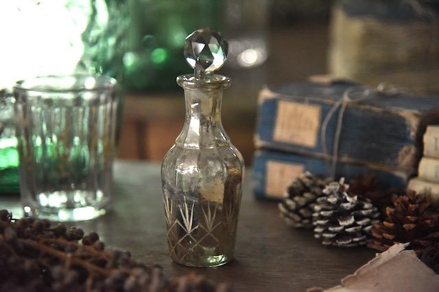 アンティーク  フレグランスボトル  香水瓶  マーキュリーグラス  フランス