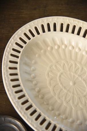 アンティーク  深皿  プレート  陶器  フランス