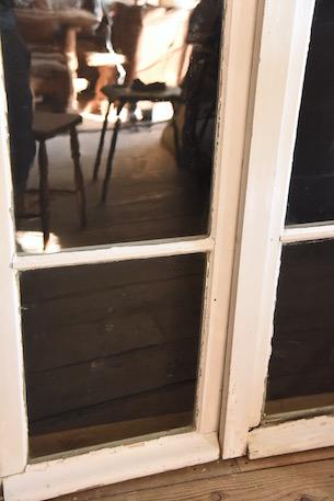 アンティーク  グレモン錠  ペイント窓  フレンチ