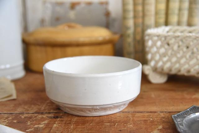 アンティーク  ボウル  陶器  ラウンド   フランス
