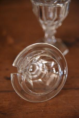 アンティーク  ガラスポット  調味料入れ  クリスタル  フランス