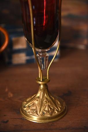 アンティーク 教会用? ワインレッド 杯