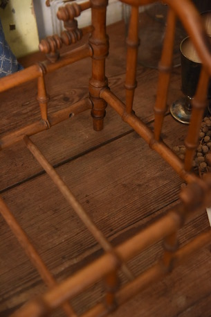 アンティーク ベビーベッド 木製 フレンチ