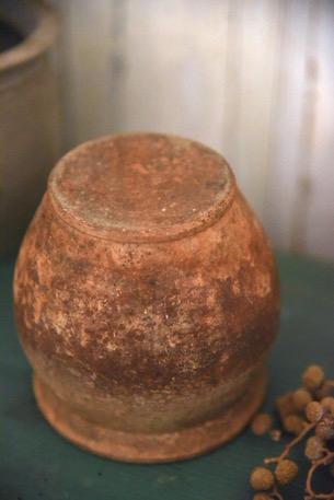 アンティーク 小さな壺 陶器ポット小