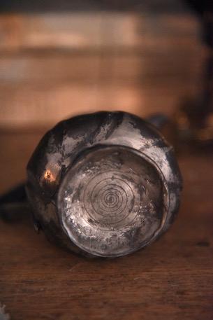 アンティーク 金属水差し 流水フォルム