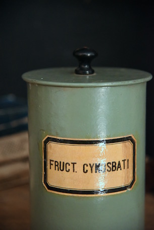 アンティーク 木製 薬品ボトル FRUCT.CYNOSBATI