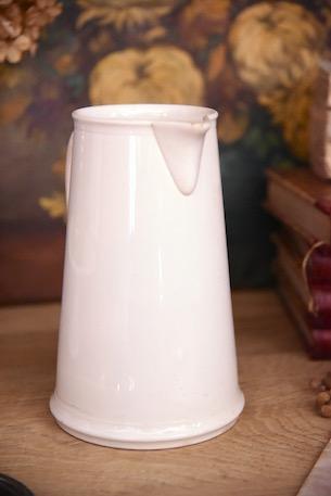 アンティーク 白陶器 ピッチャー VILLEROY A BOCH