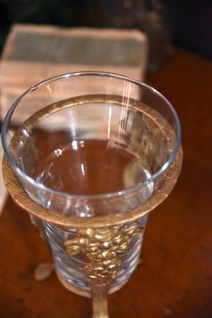 アンティーク ワインクーラー 金台座 葡萄飾り