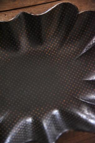 アンティーク パピエマシェ 圧縮紙 黒塗り ナポレオン3世様式