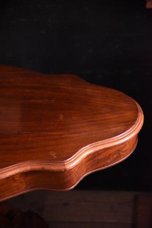 オーバル テーブル 木製 引き出し フランス アンティーク