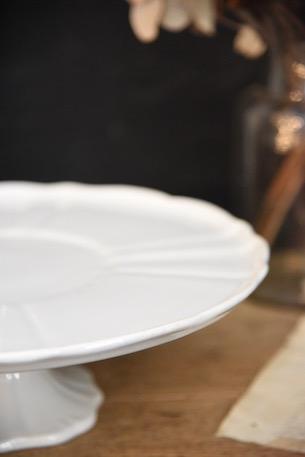 ケーキスタンド 白磁 フランス アンティーク